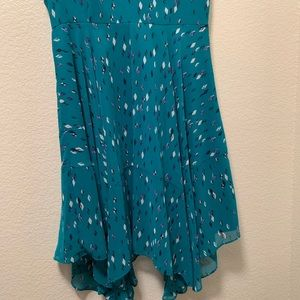 Metaphor Dresses - Metaphor Blue Printed High-Low Dress